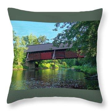 N. Troy Bridge Throw Pillow