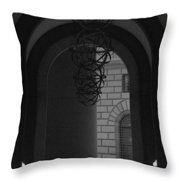 N Y C Lighted Arch Throw Pillow by Rob Hans