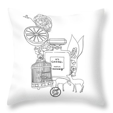 Throw Pillow featuring the digital art N0.5 by ReInVintaged
