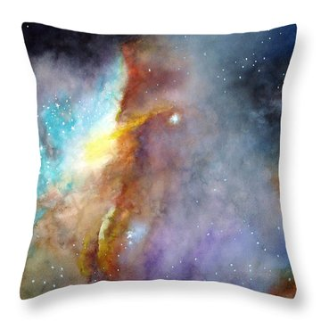 N11b Large Magellanic Cloud Throw Pillow by Allison Ashton