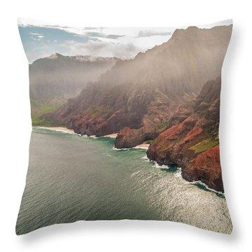 Na Pali Coast 4 - Kauai Hawaii Throw Pillow