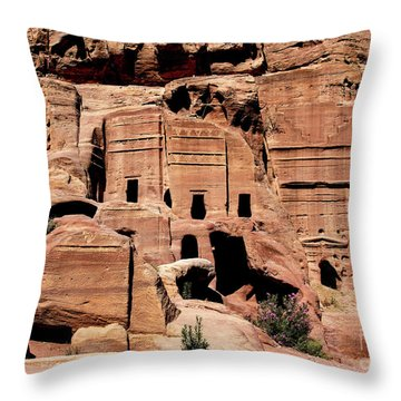 Throw Pillow featuring the photograph Nabataeans' City by Mae Wertz
