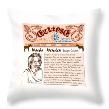 Real Fake News Society Column 2 Throw Pillow