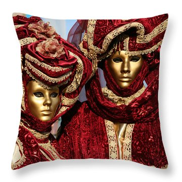 Nadine And Daniel In Red 2 Throw Pillow