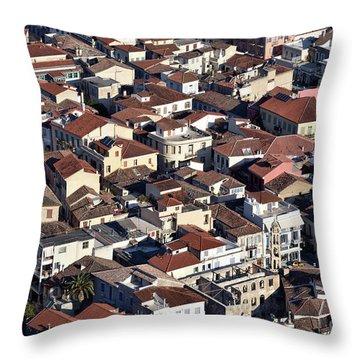 Nafplio Town Throw Pillow