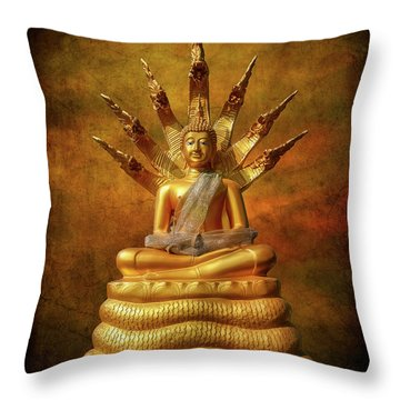 Throw Pillow featuring the photograph Naga Buddha by Adrian Evans