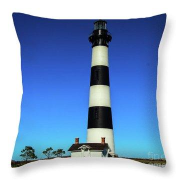 Nags Head Lighthouse Throw Pillow