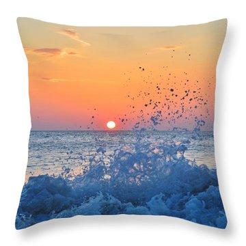 Nags Head Sunrise 7/15/16 Throw Pillow