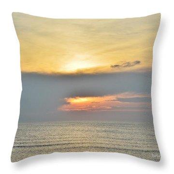 Nags Head Sunrise 7/24/16 Throw Pillow