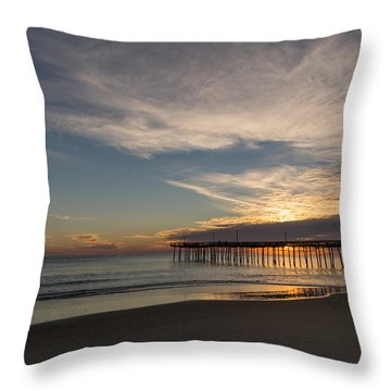 Throw Pillow featuring the photograph Nags Head Sunrise by Gregg Southard