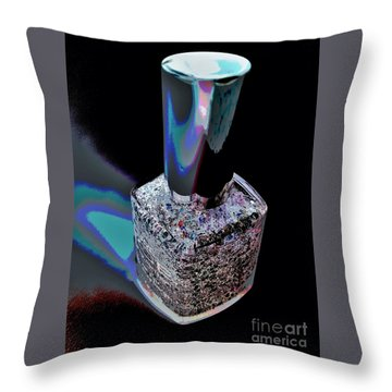 Nail Polish On The Stage Throw Pillow by Jasna Gopic