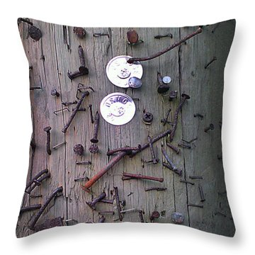 Throw Pillow featuring the photograph Nailed It by Steve Sperry