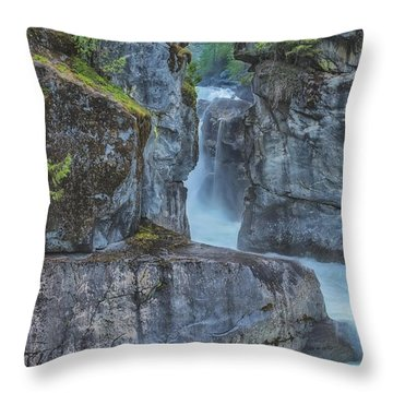 Nairn Falls Throw Pillow by Jacqui Boonstra