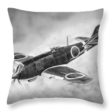Nakajima Ki84 Throw Pillow