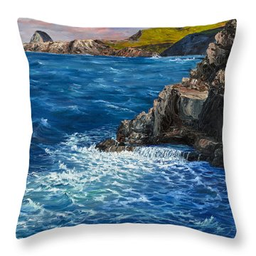 Throw Pillow featuring the painting Nakalele Point Maui by Darice Machel McGuire