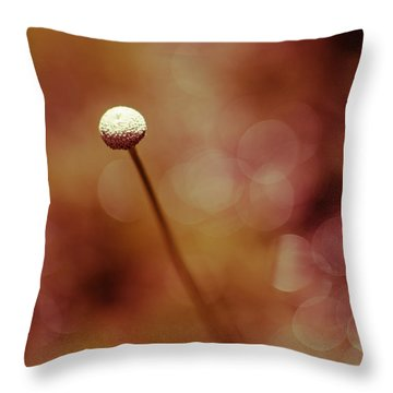 Naked Dandelion Throw Pillow