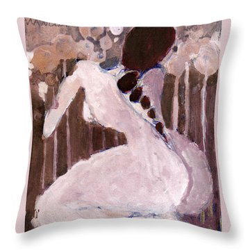 Naked Dream Throw Pillow