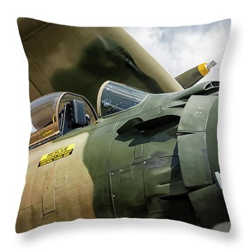 Naked Fanny Throw Pillow
