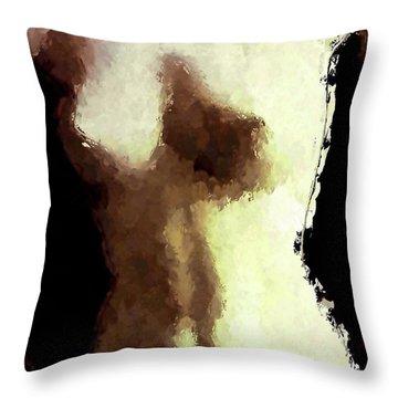 Naked Female Torso  Throw Pillow