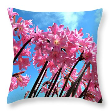 Throw Pillow featuring the photograph Naked Ladies by Vivian Krug Cotton