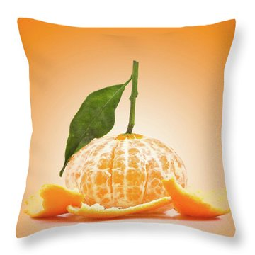 Naked Orange Throw Pillow