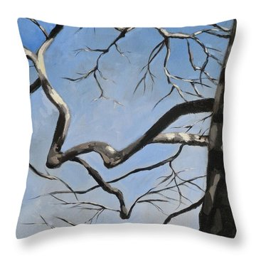 Naked Sycamore Throw Pillow