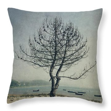 Throw Pillow featuring the photograph Naked Tree by Marco Oliveira