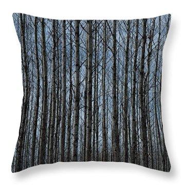 Naked Woods Throw Pillow
