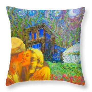 Nalnee And James Throw Pillow