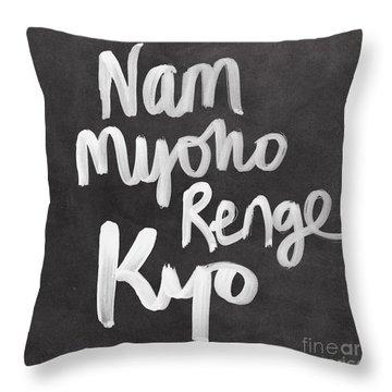 Nam Myoho Renge Kyo Throw Pillows