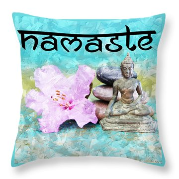 Namaste Buddha Throw Pillow