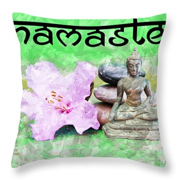 Namaste Buddha. V2 Throw Pillow