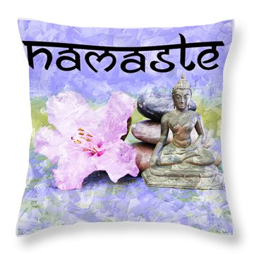 Namaste Buddha. V3 Throw Pillow