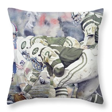 New York Jets Throw Pillows