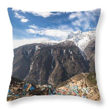 Namche Bazar Panorama Throw Pillow