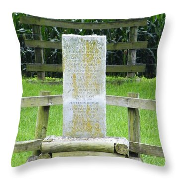 Throw Pillow featuring the photograph Name Marker In Youth Cemetery #3 by The GYPSY