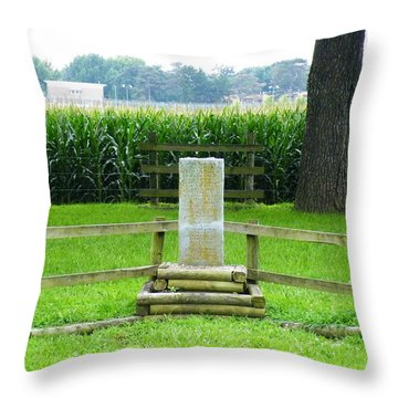 Throw Pillow featuring the photograph Name Marker In Youth Cemetery #1 by The GYPSY