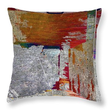 Throw Pillow featuring the mixed media Name This Piece by Tony Rubino
