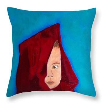 Throw Pillow featuring the painting Nameless by Rod Jellison