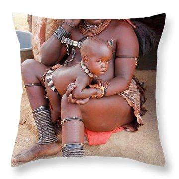 Namibia Tribe 9  Throw Pillow