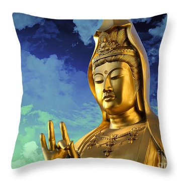Namo Guan Shi Yin Pusa Throw Pillow