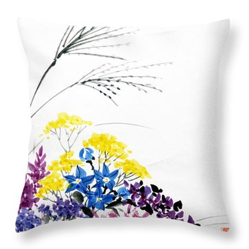 Nanakusa/ Autumn Seven Sisters Throw Pillow