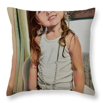 Nana's Necklace Throw Pillow