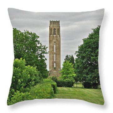 Nancy Brown Peace Tower 2548 Throw Pillow by Michael Peychich