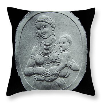 Nandi Tribe Woman And Child Throw Pillow