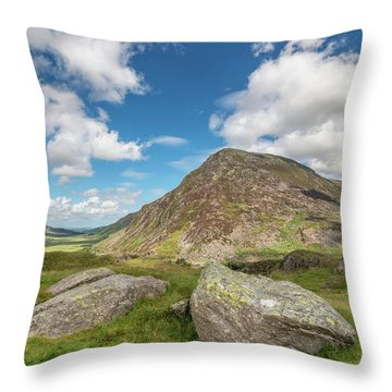 Throw Pillow featuring the photograph Nant Ffrancon Valley, Snowdonia by Adrian Evans