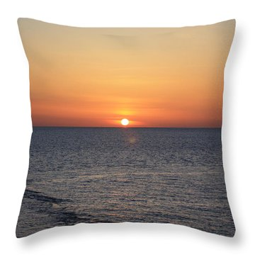 Throw Pillow featuring the photograph Nantasket Sunrise II Hdr by Greg DeBeck