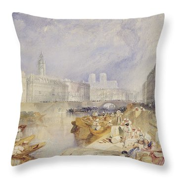 Nantes Throw Pillow by Joseph Mallord William Turner