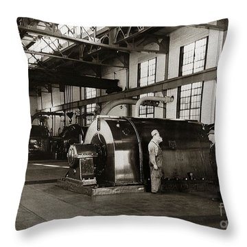 Nanticoke Pa Electrical Generators Glen Alden Mines Power Plant 1945 Throw Pillow