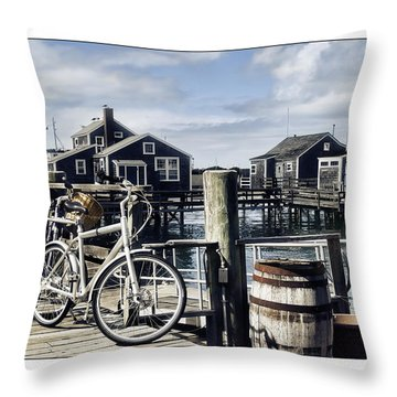 Nantucket Bikes 1 Throw Pillow by Tammy Wetzel